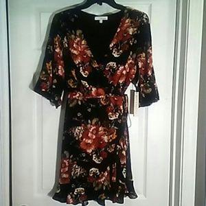 NWT Size PL floral wrap dress